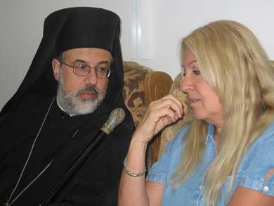 Archbishop Georges Haddad with Vassula