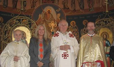 with the priests