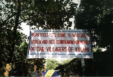 Welcome Banner for Vassula at Kulun Village