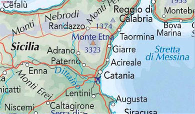 Map of Catania