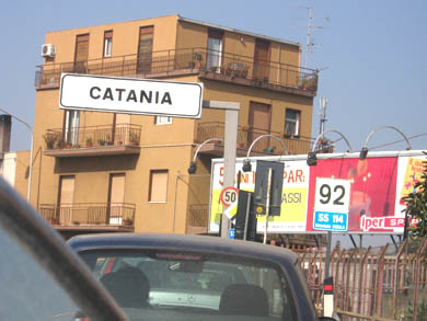 The city of Catania
