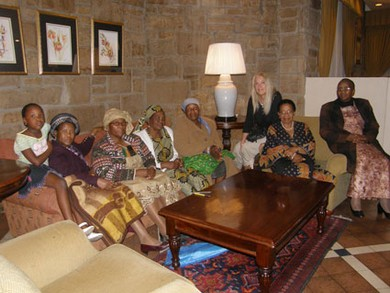 With the TLIG prayer group from Maseru, Lesotho