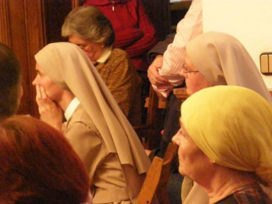Among the attendees were 7 Benedictine monks, a number of priests and several nuns