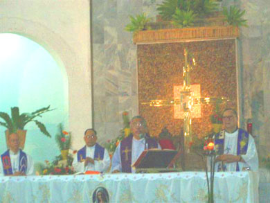 Healing followed by Holy Mass officiated by His Excellency