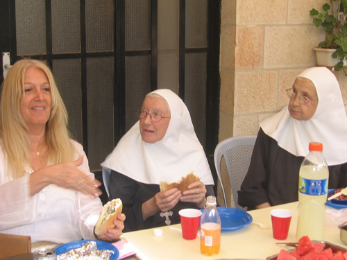 Vassula with the Sisters Emmanuel in Bethlehem