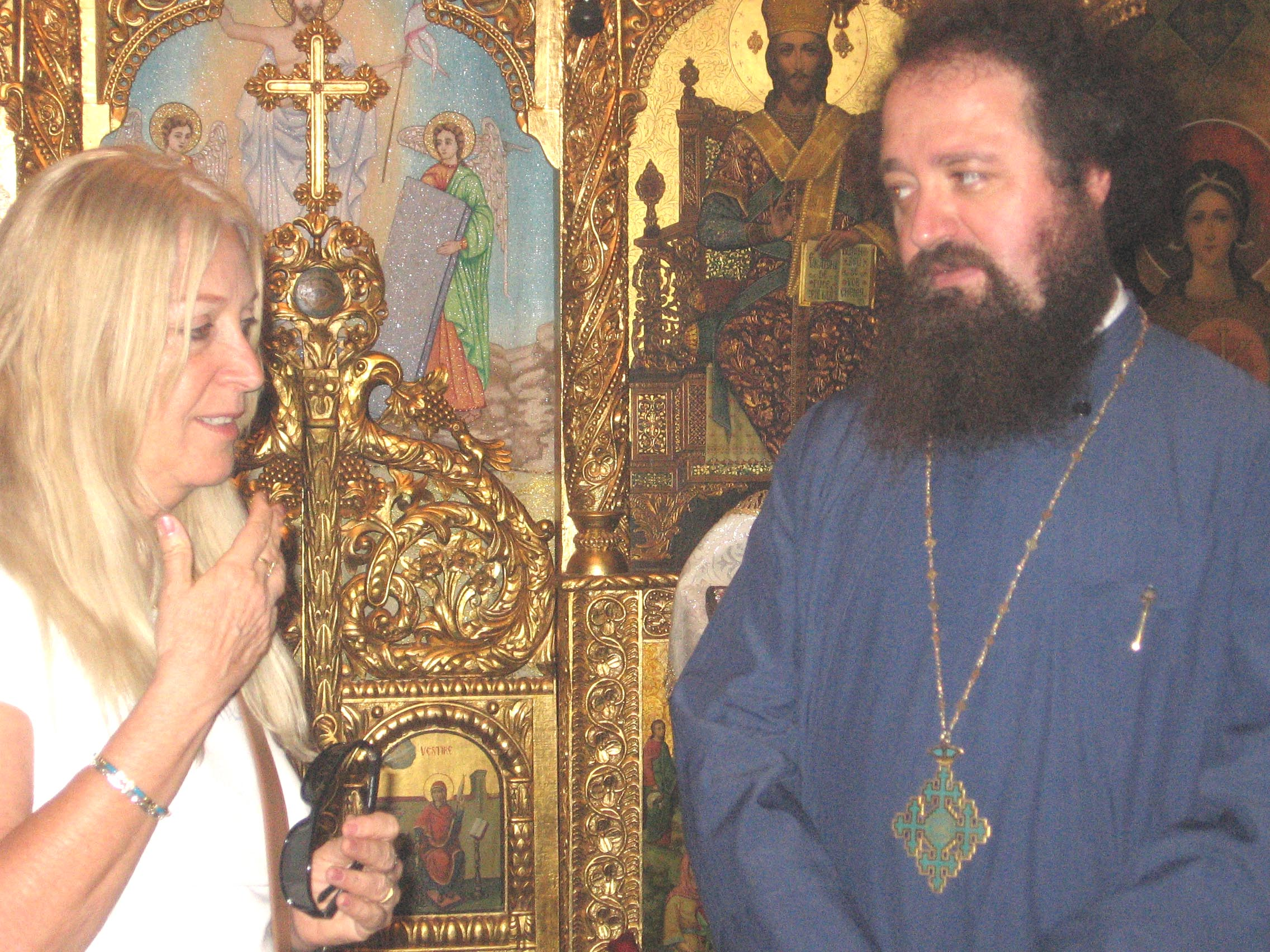 Vassula with Archimandrite Ieronium Cretu in Jerusalem