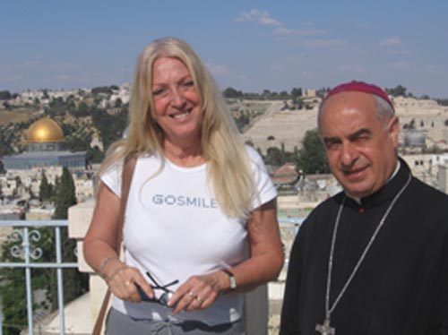 Vassula and Archbishop Paul Sayah, Maronite Patriarchate in Jerusalem