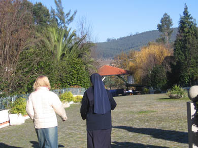 Touring Monastery grounds