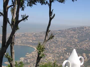 View of Lebanon from Harissa