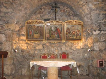 Inside Church of Ananias